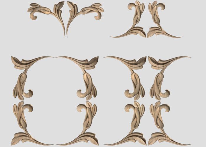 Фото 2 - Декор угловой DU012.