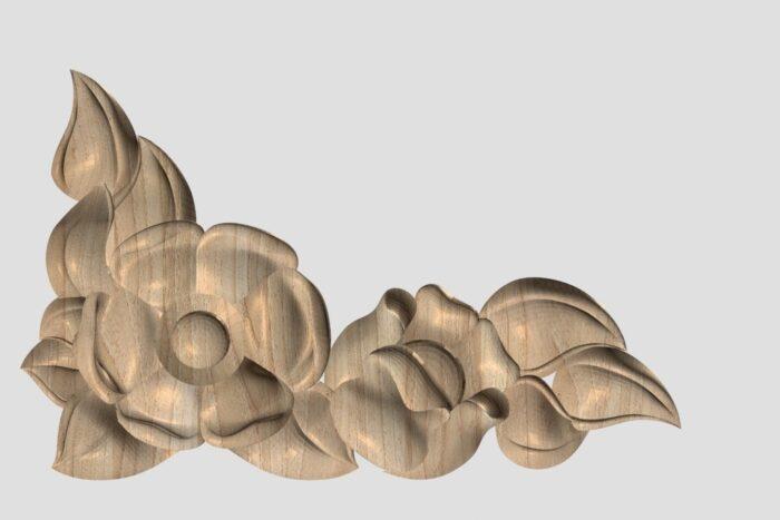 Фото 1 - Декор угловой DU052.