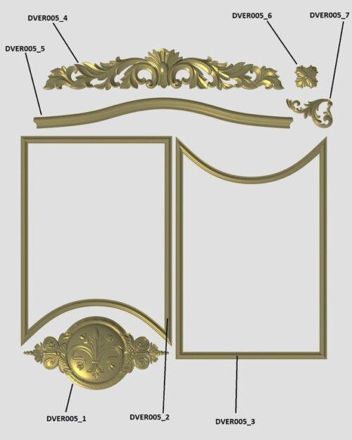 Фото 11 - Комплект резьбы для дверей DVER005.