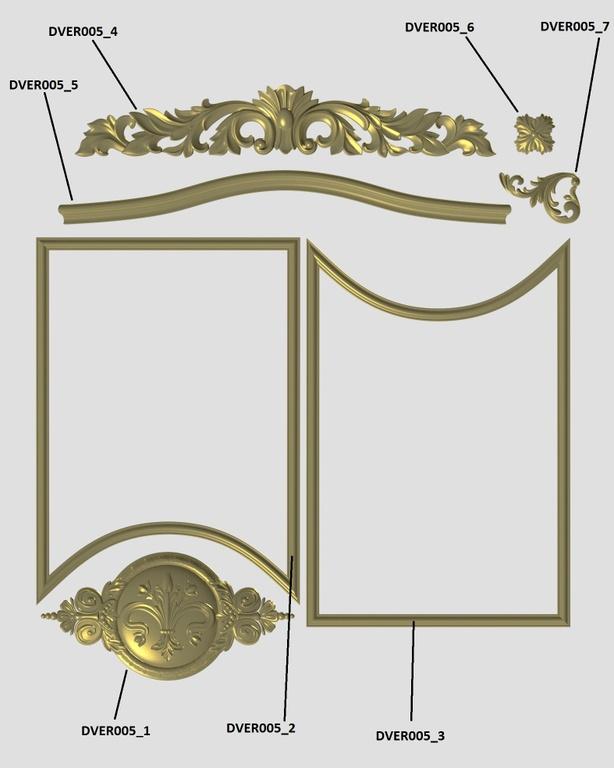 Фото 2 - Комплект резьбы для дверей DVER005.
