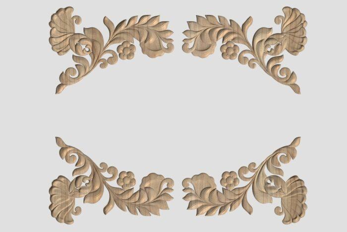 Фото 3 - Декор угловой DU047.