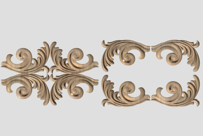 Фото 3 - Декор угловой DU013.