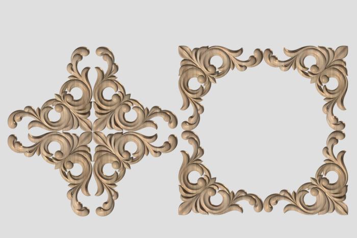 Фото 4 - Декор угловой DU021.