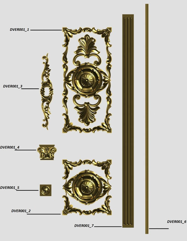 Фото 5 - Комплект резьбы для дверей DVER001.