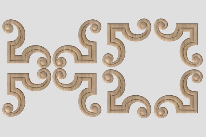 Фото 3 - Декор угловой DU019.