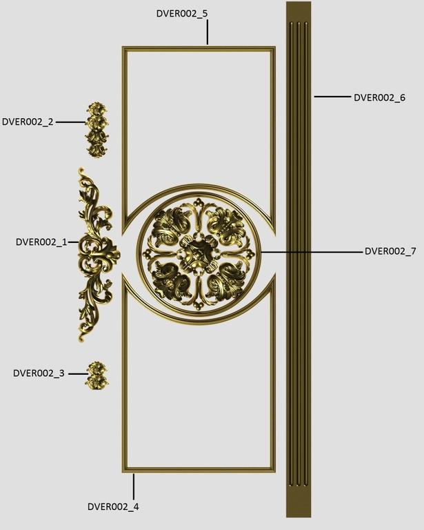 Фото 4 - Комплект резьбы для дверей DVER002.